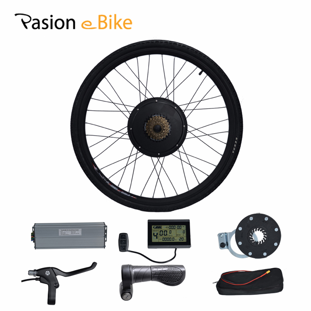 PASION E BIKE 28 Road Bike Utility Bicycle Electric Conversion Kit 48V 1500W Rear Wheel Motor 7 Speed Freewheel Sensor Brake pasion e bike 48v 1500w hub motor electric bicycle bicicleta brushless non gear rear motor high speed