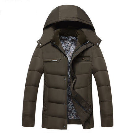 ФОТО New Style Winter Warm Men Parkas Long Sleeve Men Thick Warm Jacket Slim Solid Men casual Clothes Hooded Coat Hot sale parkas