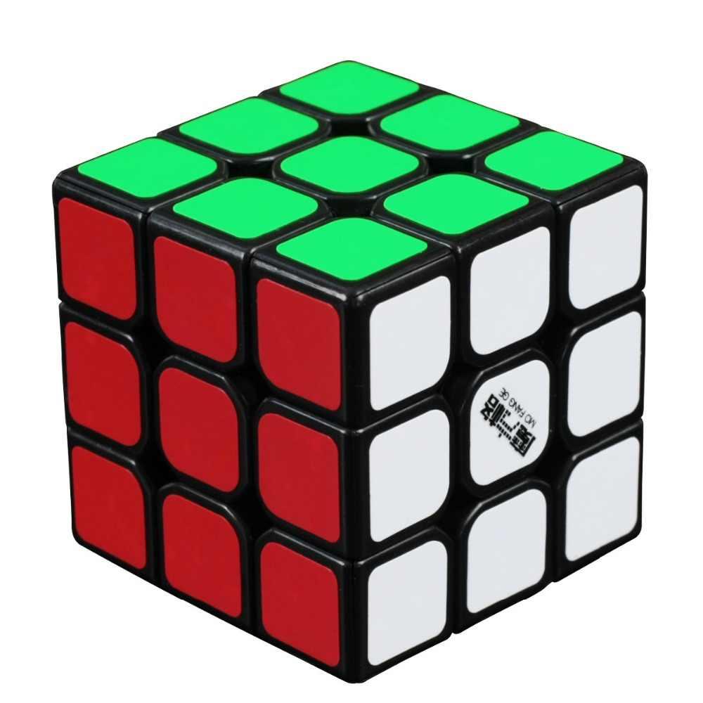 Фото Qiyi MFG Thunder 3x3x3 ультра гладкая скорость магический куб конкурс Твист Головоломка