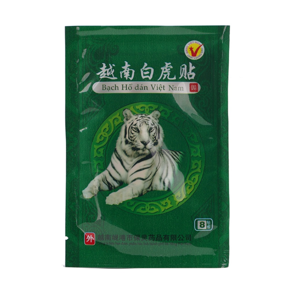 16 Patches /2 Bags Vietnam White Tiger Balm Pain Relief Plaster Meridians Rheumatoid Arthritis Lumbar Spondylosis Pain Relieving the newest rheumatoid arthritis shoulder pain pain relief laser with 5 probes in 1 device option 2