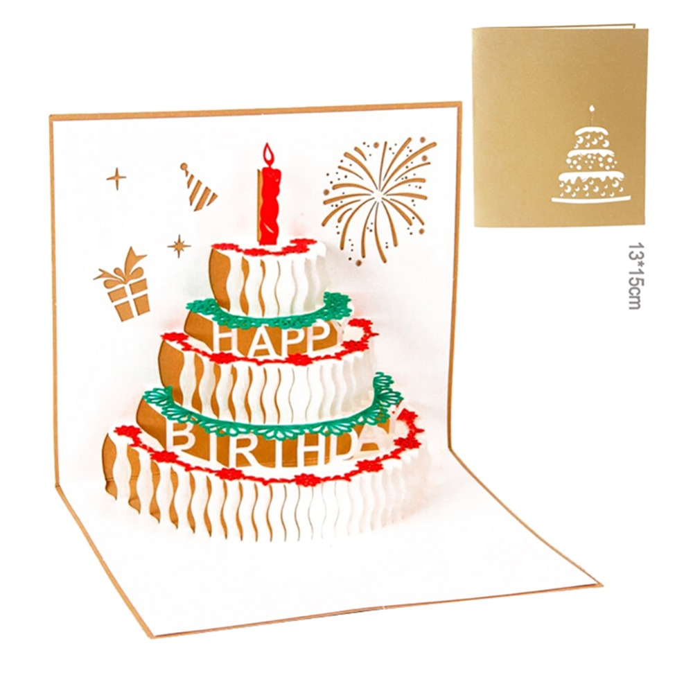 Открытка своими руками с тортом, открытки