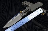 VENOM kevin john Tilock Pocket knife Titanium handle M390 Blade Survival Tactical Fruit Folding knives Outdoor Tools