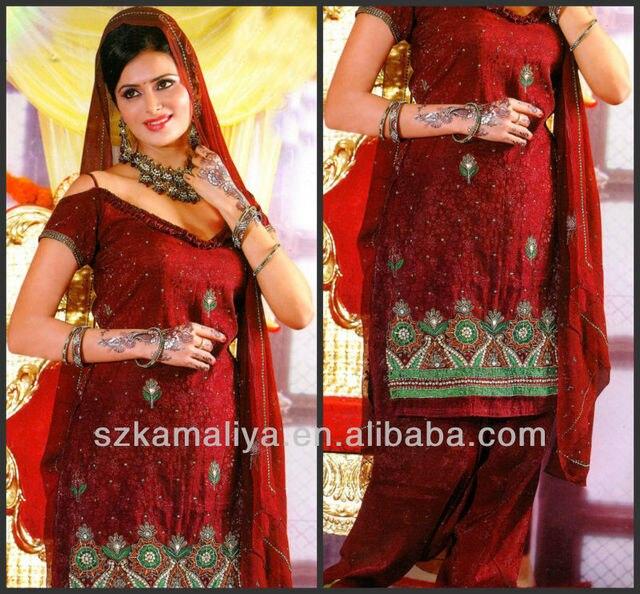 2014 Elegant Applique Straight V Neck Muslim Kaftan Dark Red Chiffon Islam  bollywood costume Evening Dresses 08edb7045904