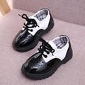2016 New Classic детские shoes мода черный белый 3-8Y дети Мартин сапоги мальчики девочки весна осень дети кожаные shoes унисекс
