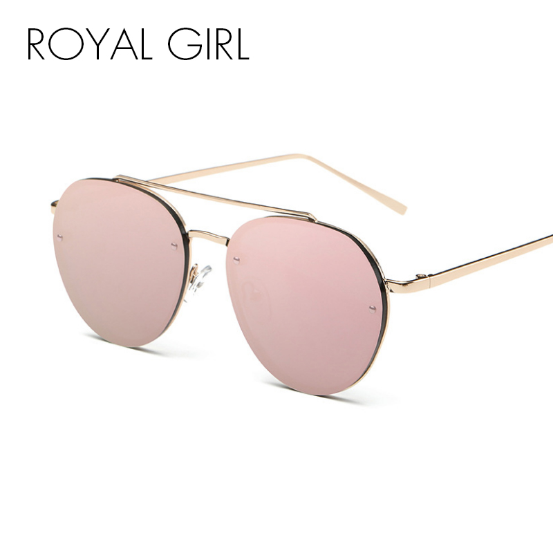 51326ef54cc Detail Feedback Questions about ROYAL GIRL Brand Designer Round Sunglasses  Women Metal Retro Glasses Female Shiny tinting Mirror Lens Oculos UV400  SS422 on ...