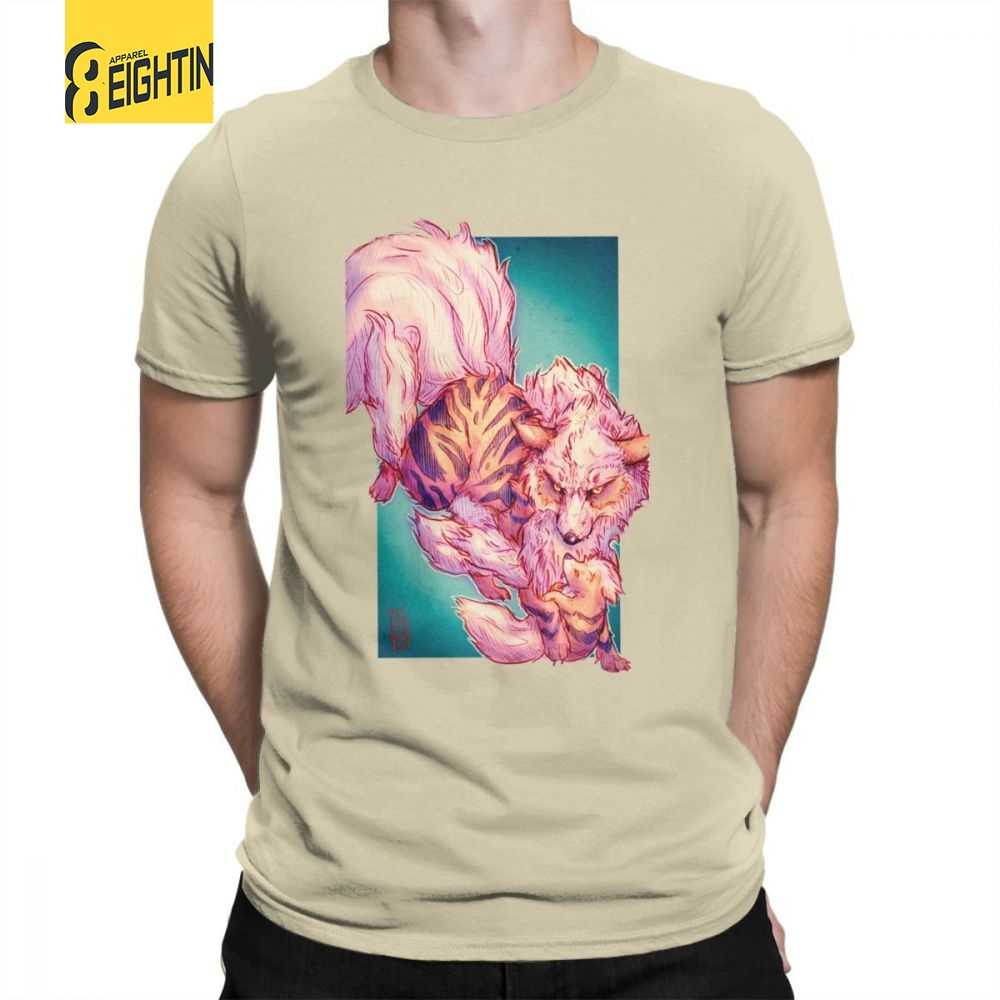 9fbccf3b Man T Shirts Arcanine And Growlithe Pokemon Funny Short Sleeve Tees Crew  Neck Clothes Cotton New