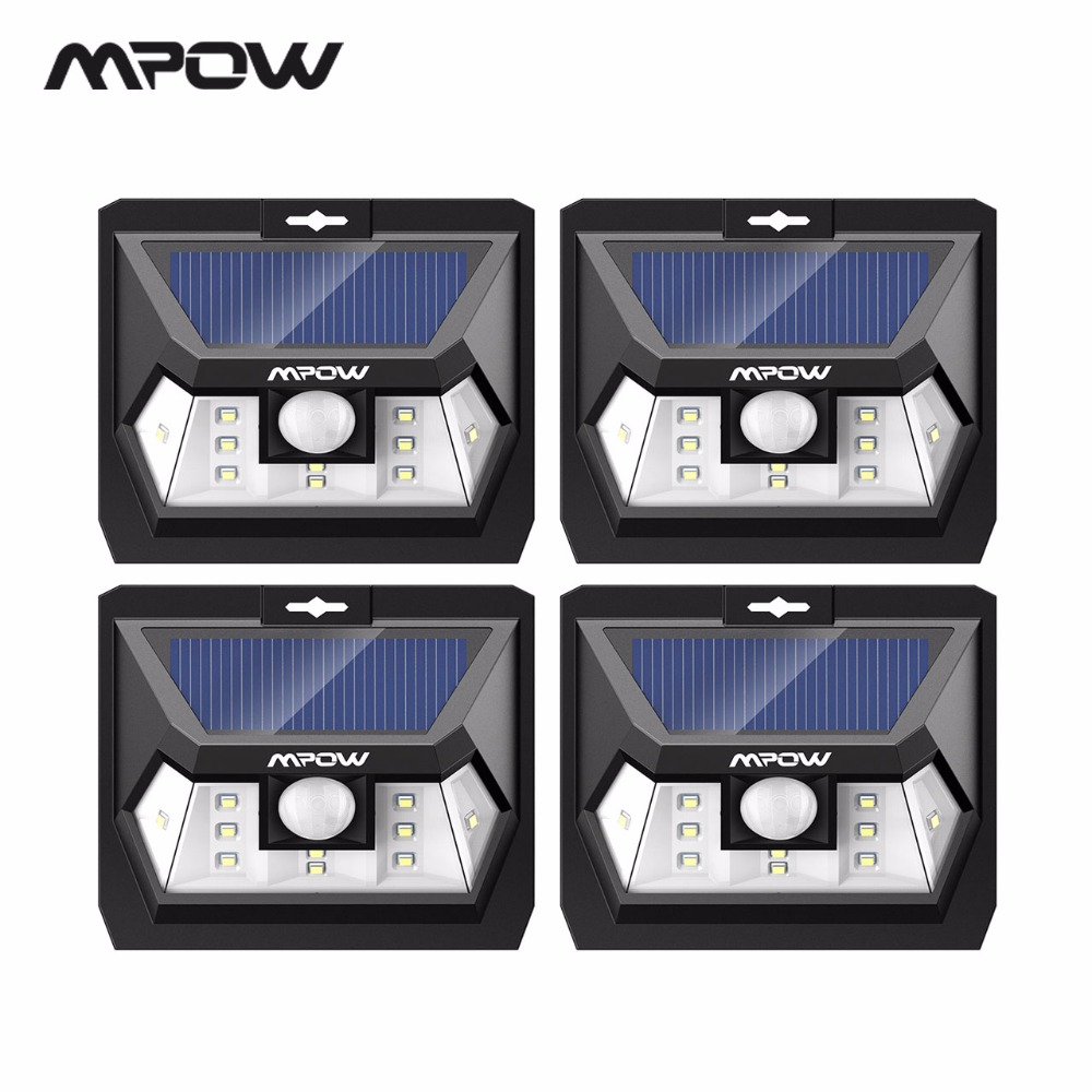 Mpow CD078 10 LED Solar Power Lamps For Fence Garden Deck Yard ABS+PC Mini IP65 Waterproof Outdoor Wall Panel Lights 204 Lumens купить в Москве 2019