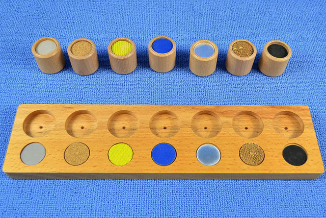 New Wooden Baby Toy Montessori Wood Texture Cylinders Touch Rough & Smooth Early Educational Baby Gifts