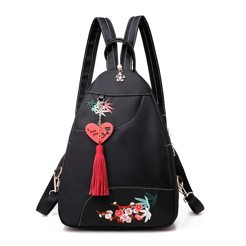 2019 Women Oxford Backpacks For Girls Sac A Dos Female Embroidery Flowers Backpacks High Quality School Bags For Girls Mochilas