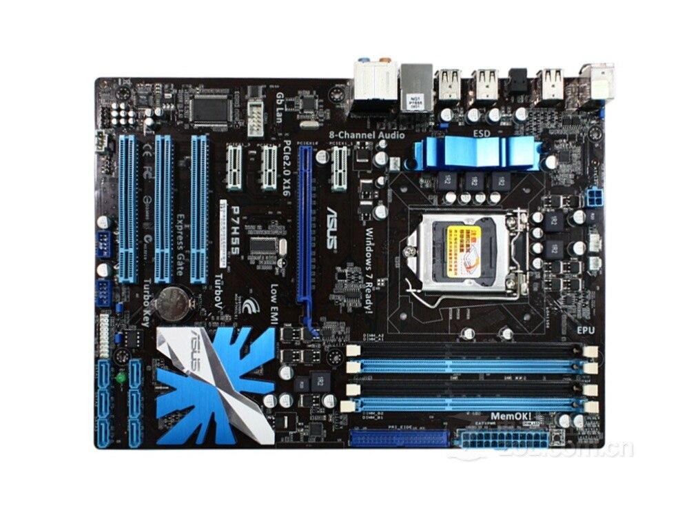 ASUS P7H55 d'origine carte mère LGA 1156 DDR3 16 GB H55 bureau carte mère livraison gratuite