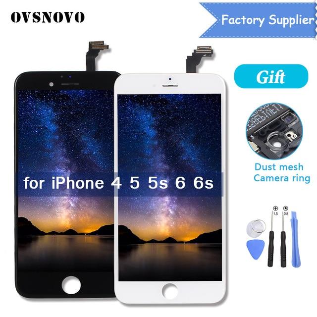 Фабрика OEM lcd для iphone 5 5S 6 6S 4 lcd дисплей для iphone 6 6S lcd сенсорный экран дигитайзер сборка замена AAA Качество