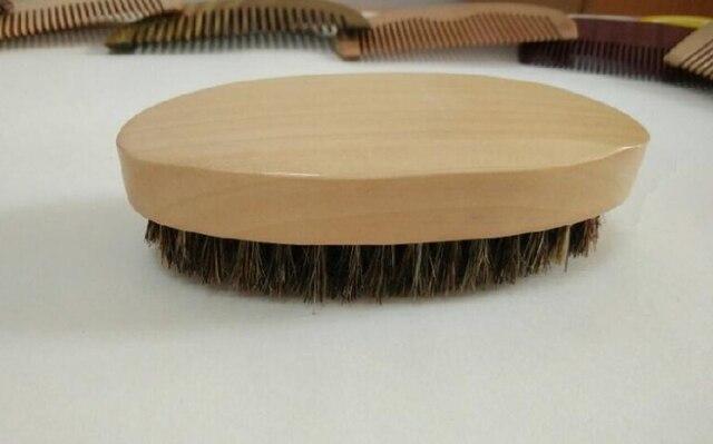 Натуральная щетина кабана деревянный Кисточки для бритья Портативный Овальный Кисточки для бороды, усы Уход за кожей лица массаж