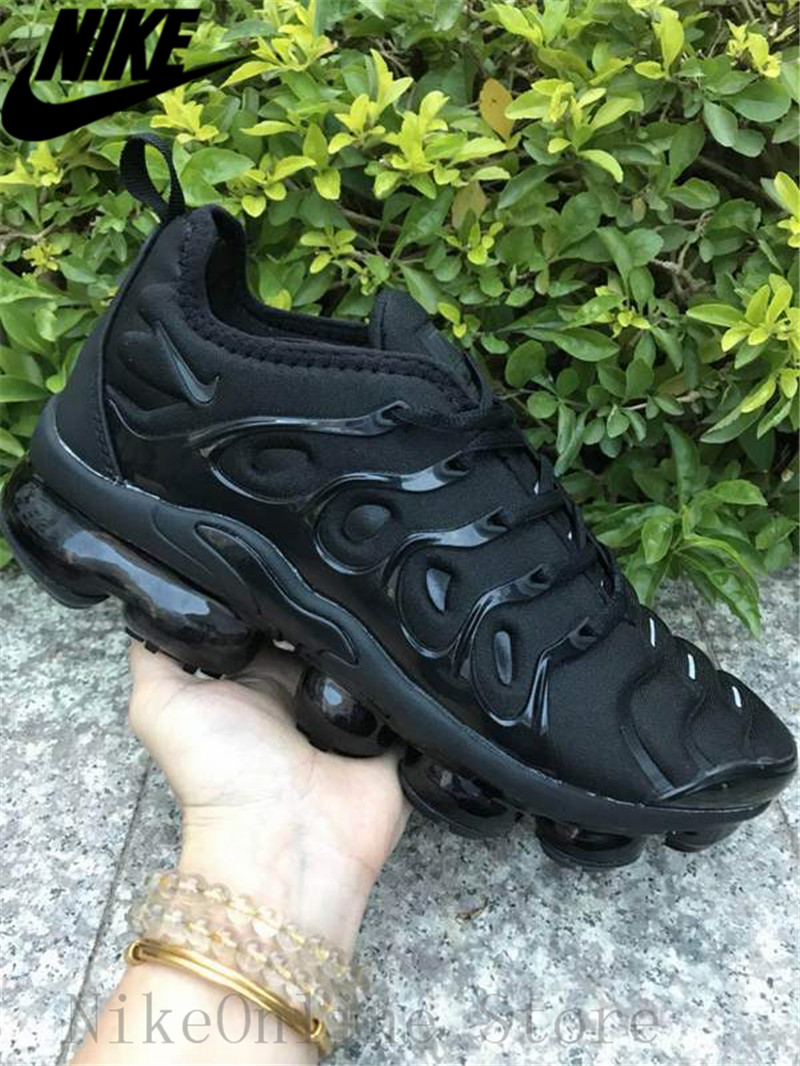 9ace57dc57e Nike Air Max Vapormax Plus TN Men And Women Running Shoes Cushioning Shoes  Outdoor Sport Black Low top Sneaker EUR36 45-in Running Shoes from Sports  ...