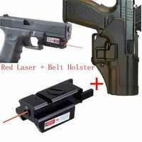 トップ品質レッドレーザー + ブラックホーク CQC エアガンエアガンホルスター Glock 17 18 19 23