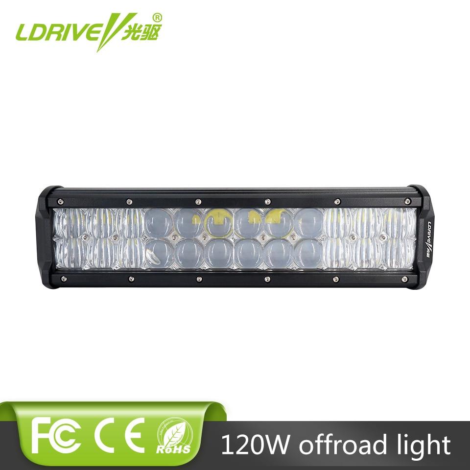 LDRIVE 5D Lens 120W LED Light Bar 12 4X4 4WD SUV Driving Headlight Truck Boat Bus Golf Auto Wagon Pickup ATV UTB UTV Fog Lamp