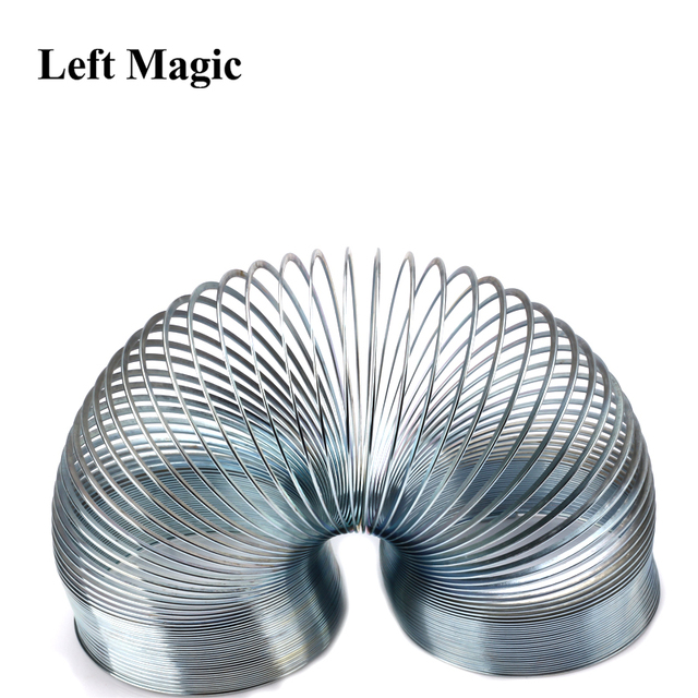 Funny Gadgets Classic Stress-Relieve Copper Magic Slinky Metal Rainbow Spring Magic Tricks 1pcs Toy Kids Gift G8213