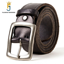 FAJARINA Quality First Head Layer Solid Cow Skin Leather Belt for Men Jeans Alloy Buckle Metal Retro Belt Style Jeans 17FJ302