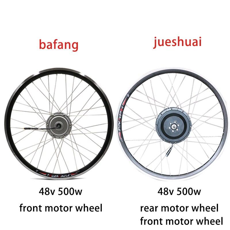 Bafang Kit de vélo électrique 48 v 500 w roue de moteur 48 V moyeu sans brosse roue de moteur 20-700C avant arrière Kit de Conversion de vélo électrique