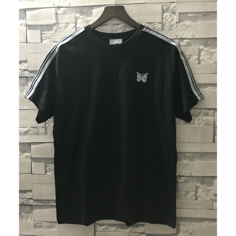 Hip Hop AWGE T Shirts Spring Summer Fashion Casual Men Japan Awge Top Tee Streetwear Butterfly Embroidery Striped Awge Top Tee