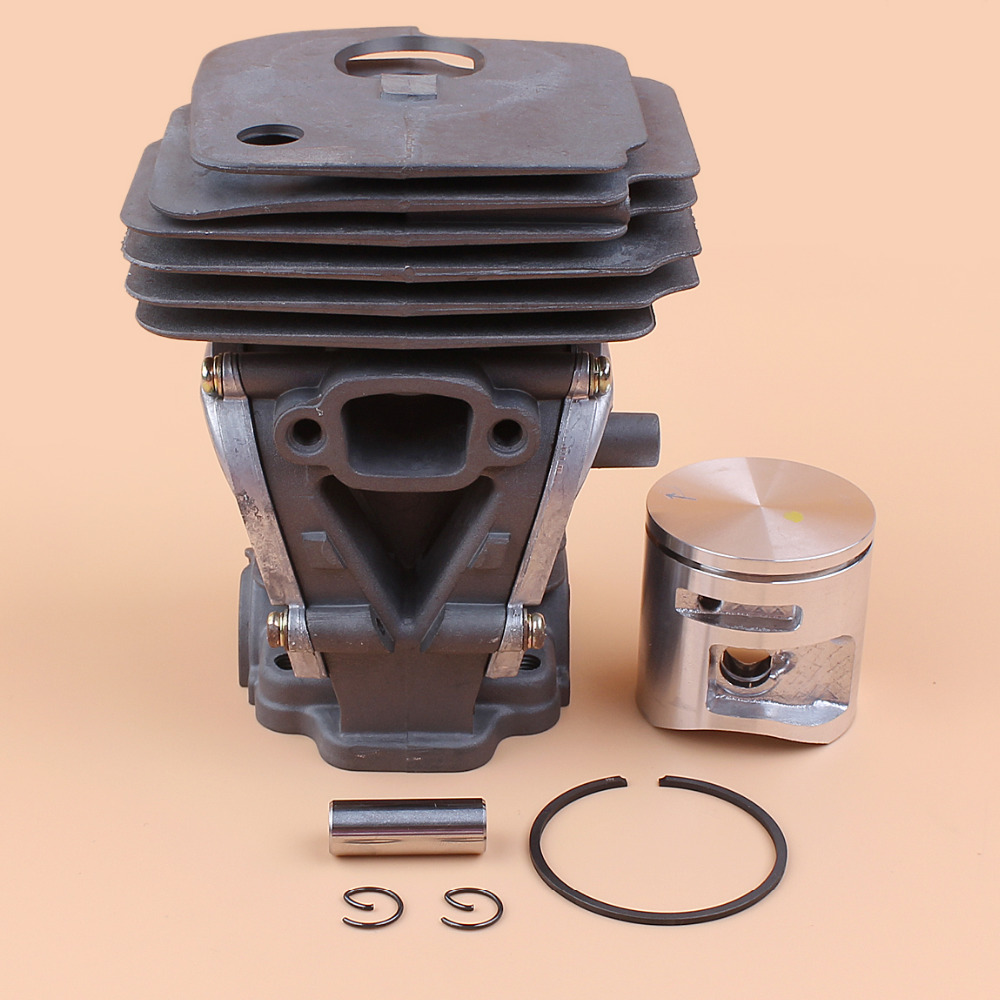 44MM Cylinder Piston Kit For HUSQVARNA 445 445E 450 450E JONSERED CS2245 CS2245S CS2250 Chainsaw Motor Engine Rebuild Parts 44mm cylinder piston ring pin kit for husqvarna 445 445e 450 450e chainsaw 544 11 98 02 nikasil plated replacement parts