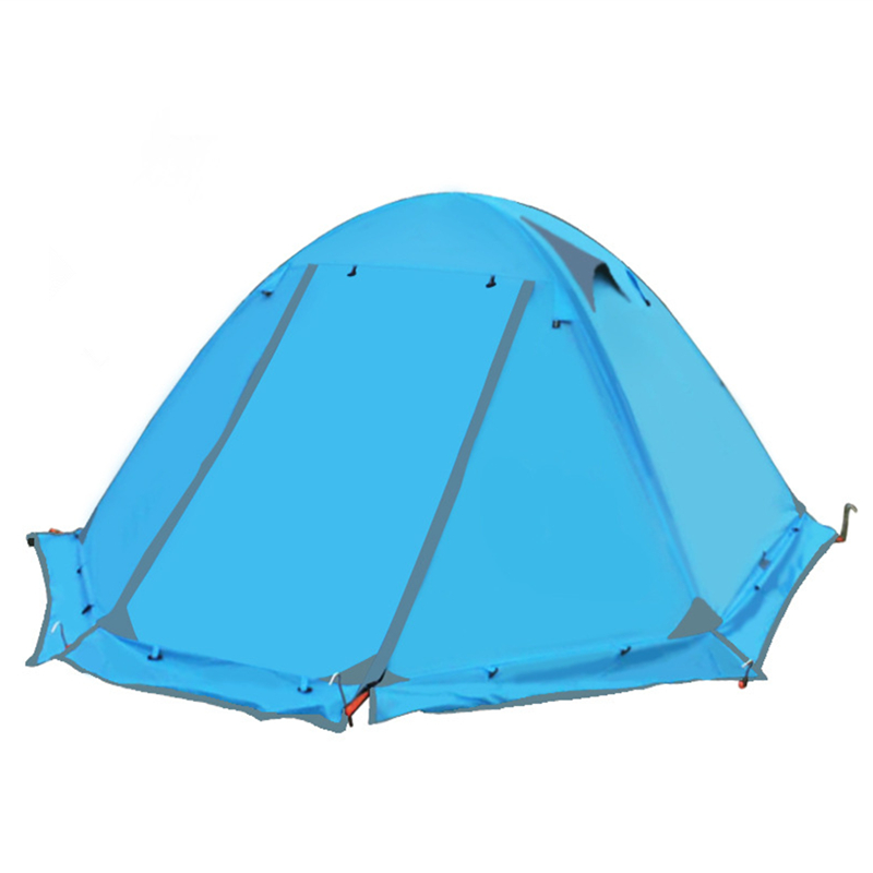 One Person Tent Ultralight Camping Tents 4 Season Double-Layer Outdoor Hiking Tents good quality outdoor camping tent ultralight gazebo summer sun shelter awning tent winter tents double layer 2 person 4 season