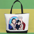 Yuri on Ice Canvas Cosplay Handbag Plisetsky Yuri/Victor Nikiforov Casual Shopping Tote Bag Student Bookbag Bolsa Feminina