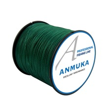 Anmnka 4 Braided PE Fishing Line 300M 12 Colors Multifilament Braided Fishing Line Peche Saltwater