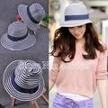 Новый модный летние широкими полями соломенной шляпы пляж ведро для женщин Sunbonnet Fedora женский бесплатная доставка SDDS-010