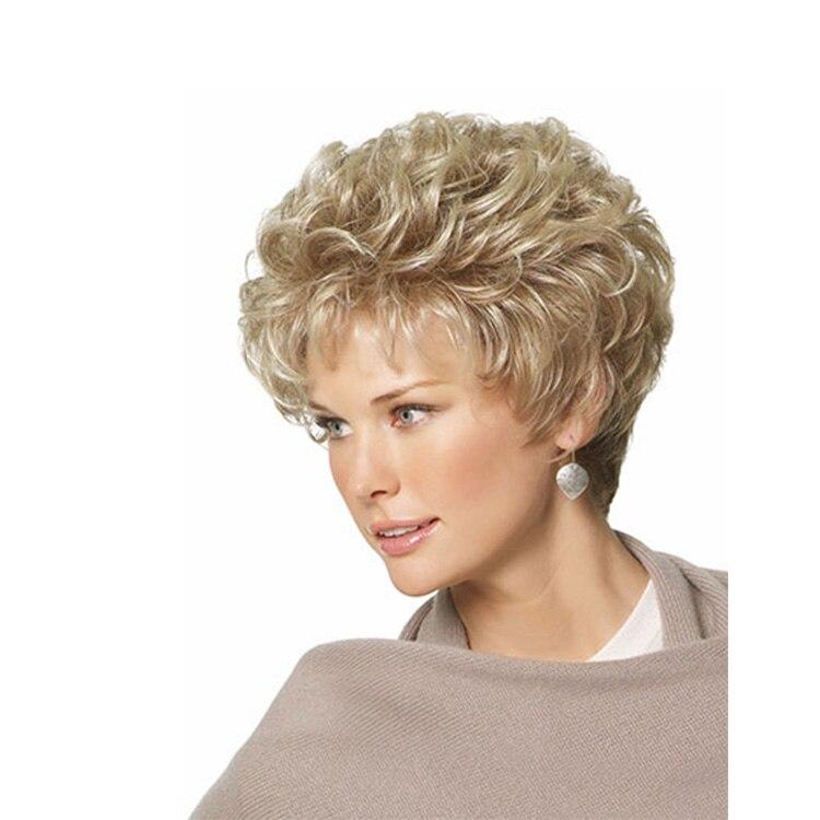 tienda online nuevo alta calidad pixie cut sinttica peinado pelucas ninguno lace pelo corto rizado rubio pelucas para mujeres aliexpress mvil with peinados