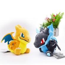 2 Styles Q Version Mega Charizard X&Y Mega Charizard Y Mega Evolution Animal Stuffed Plush Quality Toys For Children Gift