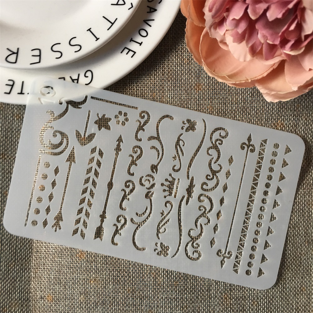 New A6 Geometry Flag 19 DIY Craft Layering Stencils Wall Painting Scrapbooking Stamping Embossing Album Paper Card Template