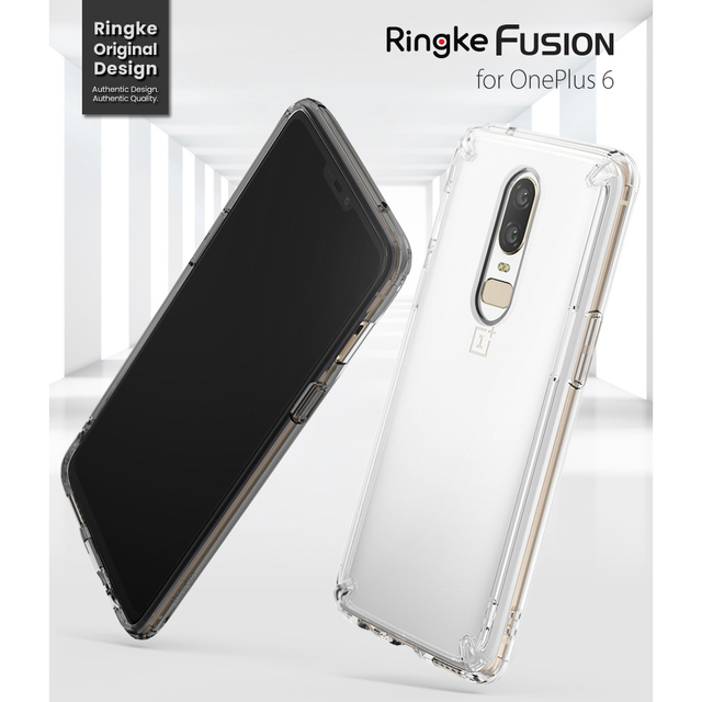 online store 83bd7 f7ba8 US $14.99  100% Original Ringke Fusion OnePlus 6 Case Clear PC Back Panel +  TPU Bumper Hybrid Case for OnePlus 6-in Fitted Cases from Cellphones & ...