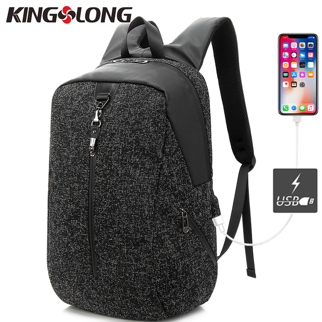 65ca8f96e3e4 KINGSLONG Multifunction USB charging Men 15inch Laptop Anti Thief Backpacks  For Teenager Fashion Mochila Travel Bag KLB180621A-5
