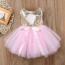 Пышное детское платье принцессы для маленьких девочек вечерние платья-пачки из тюля с вырезом на спине бальное платье розового и красного цветов, торжественные платья