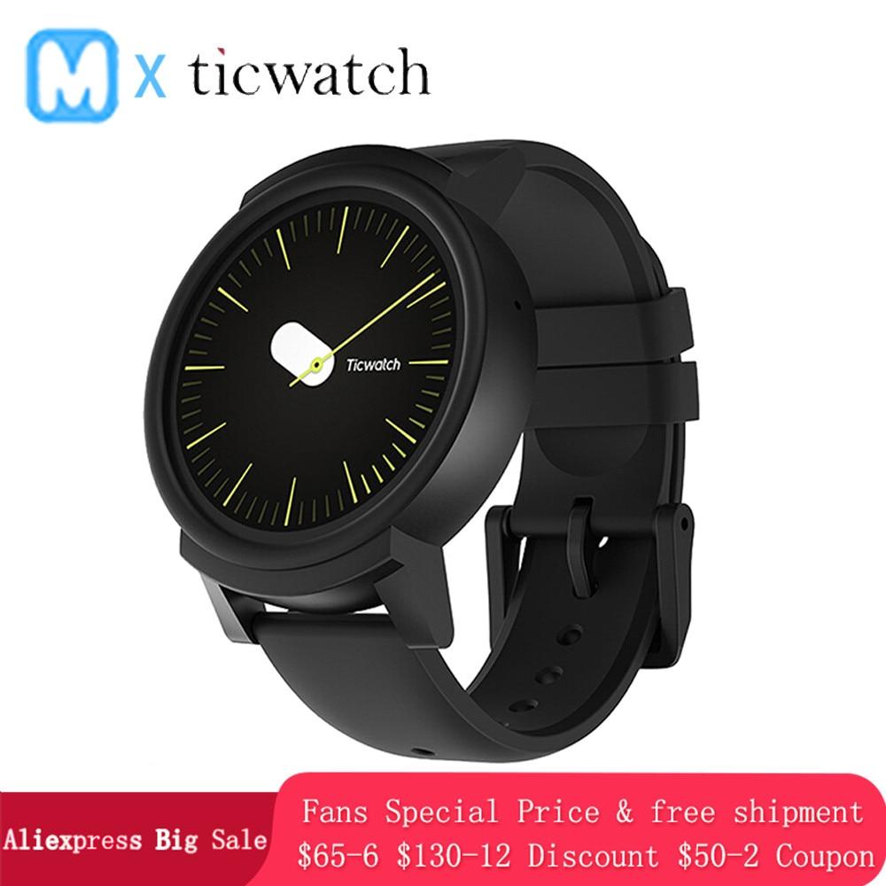 Originale Ticwatch E GPS Sport Astuto Della Vigilanza del Android Usura OS Monitor di Frequenza Cardiaca di MT2601 Bluetooth 4G ROM WIFI Musica IP67 Impermeabile