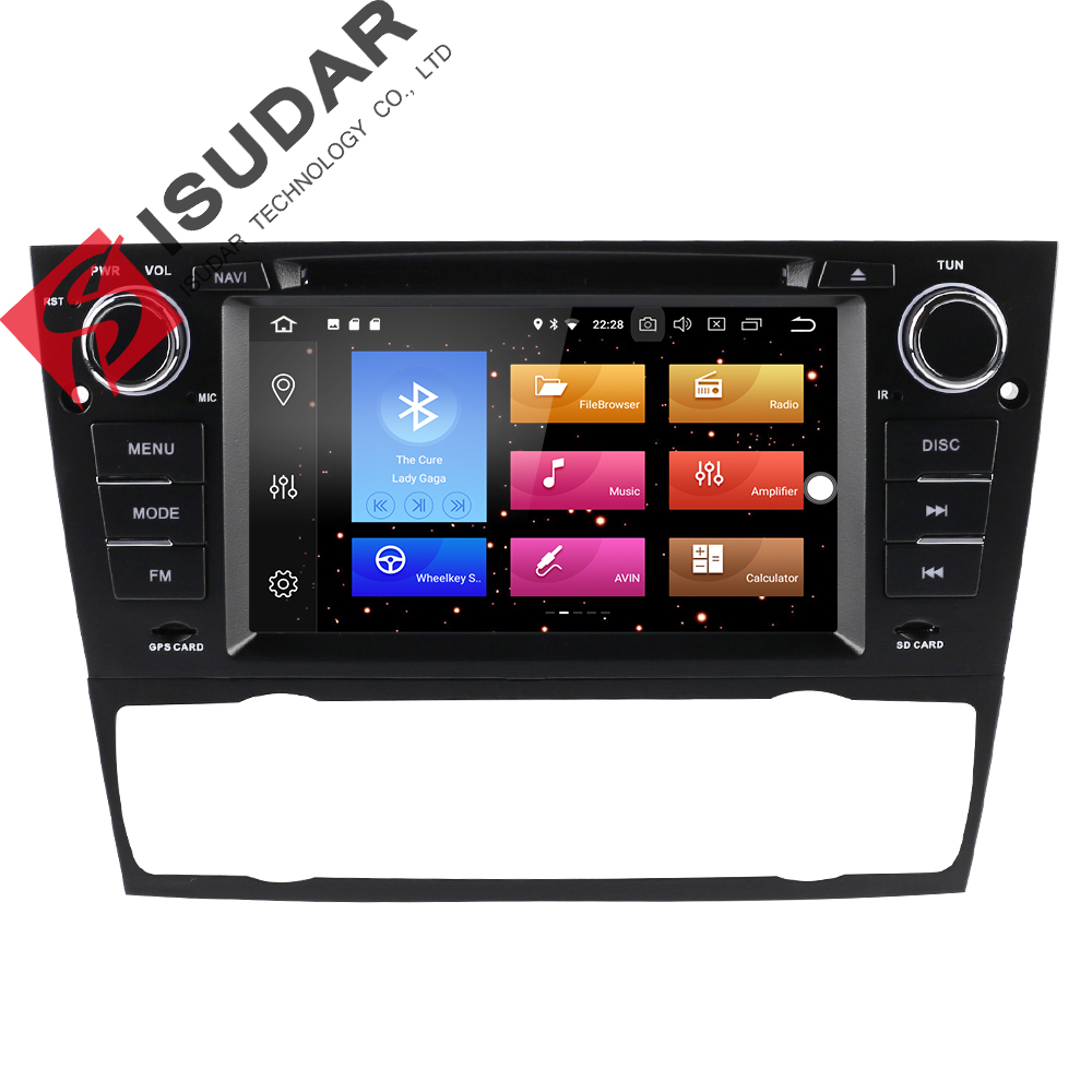 Isudar font b Car b font Multimedia Player GPS 2 Din Android 8 0 For BMW