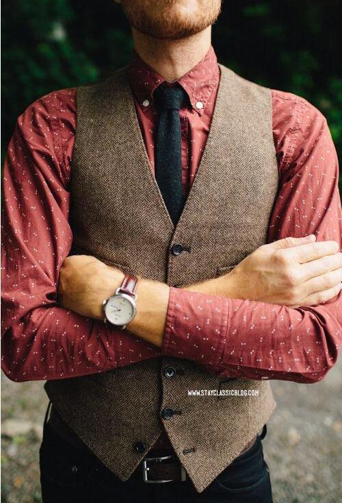 Herringbone Tweed Vest 2