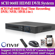HDMI 8CH H.264 Standard D1 960H Video Recorder Audio RS485 PTZ CCTV DVR 8 Channel For Analog Camera