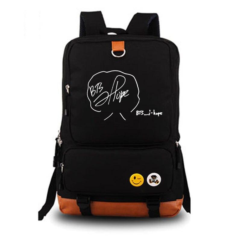 Kpop BTS Bantan Garçons la Même Autour Personnalisé Signature Édition Limitée école sac d'école des élèves sac à dos Pour Ordinateur Portable