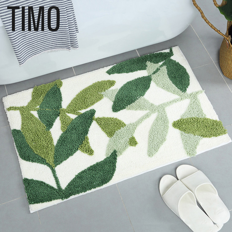 TIMO Plant Style Carpet Coffee Table Room Bedroom Area Rug