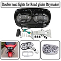 For Harley Davidson Daymaker headlight for Road glides led headlight for Harley double head lights led headlight for motorcycle