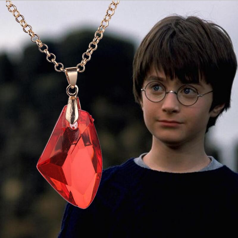 Harry Magic Stone Necklace The Philosopher's natural Stone Pendent Sorcerer's Stone pendant necklace Christmas Halloween Gift