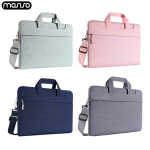 Image 1 - MOSISO Laptop Tasche Fall 15,6 15,4 13,3 Wasserdichte Notebook Schulter Taschen Frauen Männer für MacBook Air Pro 13 15 zoll computer Tasche