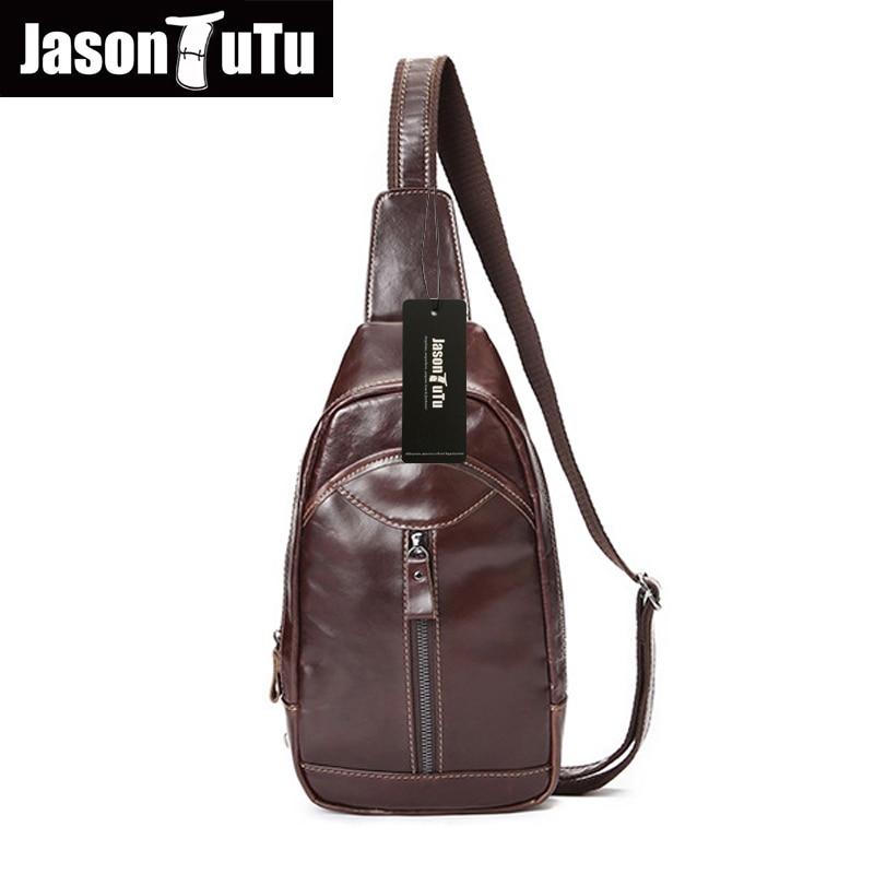 ФОТО JASON TUTU 100% genuine leather men bag fashion casual high quality men chest pack shoulder bag messenger bag handbag HN43