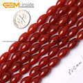 Natural Olivary Red Agate Carnelian Beads For Jewelry Making 8X12mm 15inches DIY Jewellery FreeShipping Wholesale Gem-inside