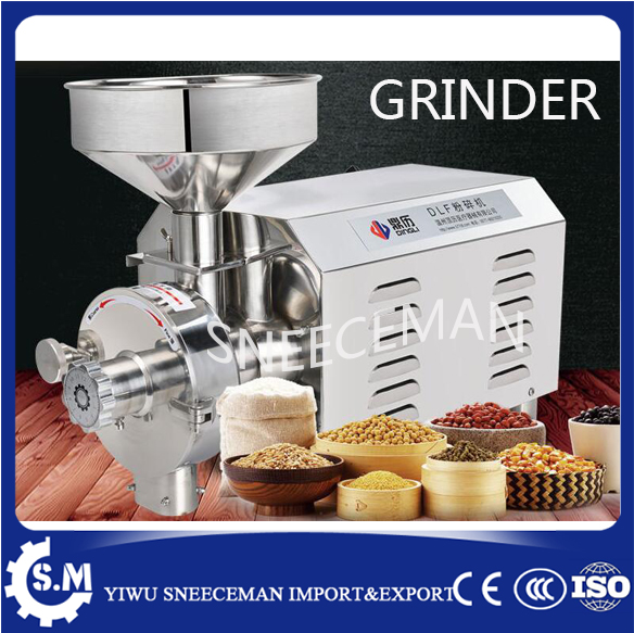 Running water grinder continuous punching machine seasoning Soybean chili pepper sesame flour mill cereal mill