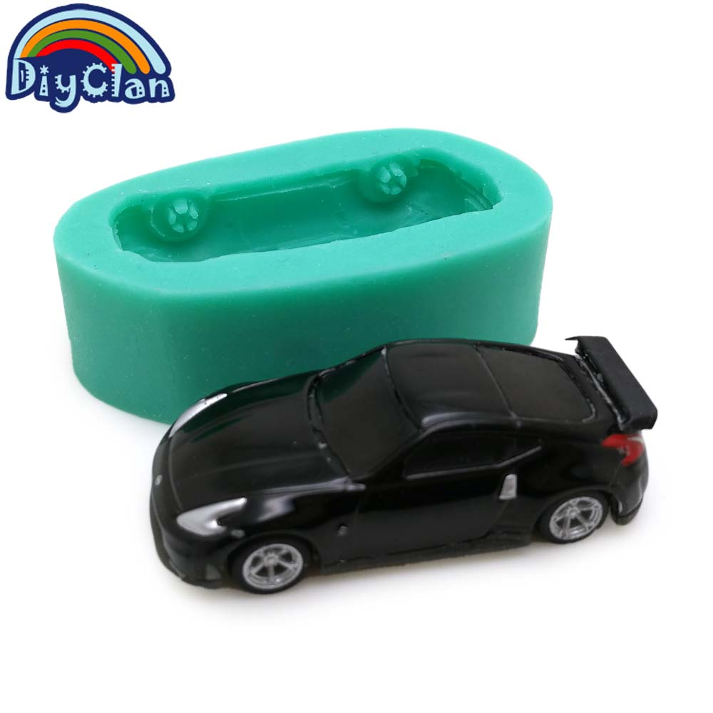 2 style simulation Sports car silicone molds for cake decorating chocolate fondant children toy mould resin polymer clay tools