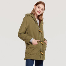 Danjeaner Plus Size Winter Women Coats 2018 Parka Casual Outwear Military Hooded Thick Coat Woman Clothes Female Jacket