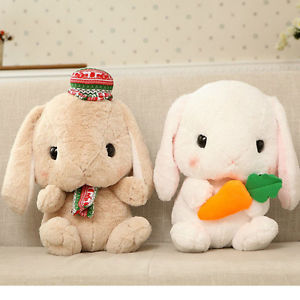 15 74 Holland Lop Bunny Mini Lop Rabbit Plush Doll Toy Baby Girl