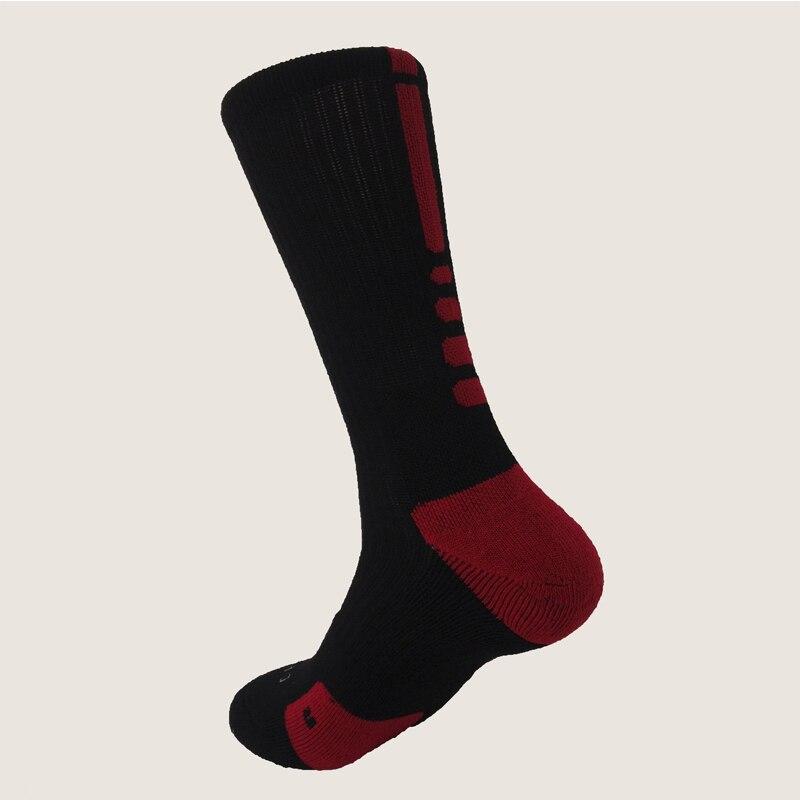 Новые Элитные Носки мужские длинные носки мужские утолщенные Носки мужские носки Meias Masculinas - Цвет: Black And Red